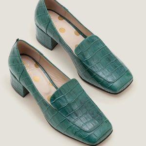 NWOT Boden Carina Woodland Croc Heeled Loafers